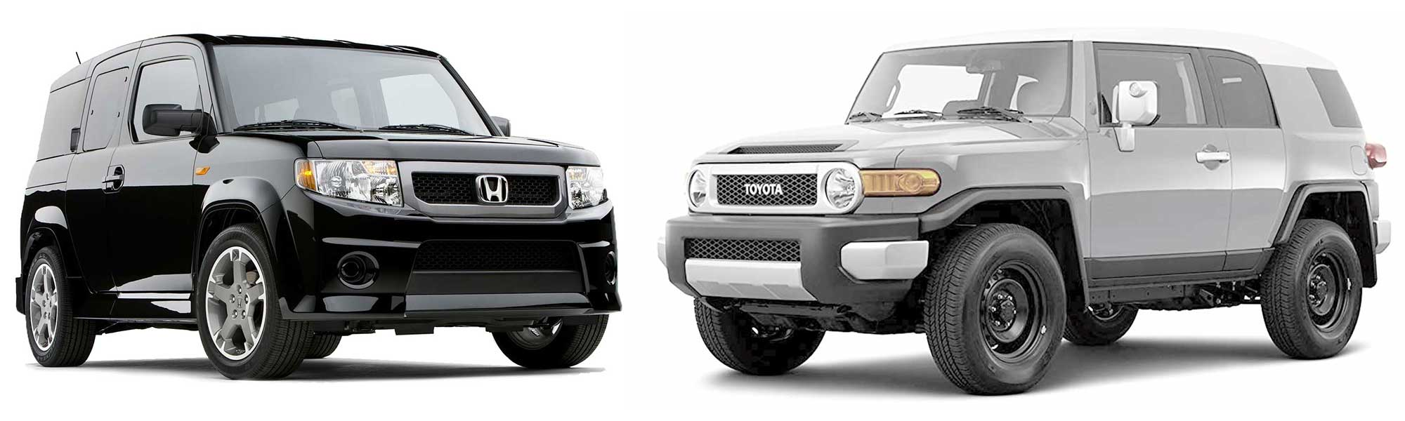 Honda Element vs Toyota FJ Cruiser.